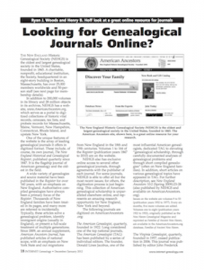 Free Article from Internet Genealogy Magazine