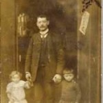 Zacharia Marcus with children Lionel and Nettie