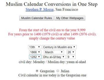 Muslim Calendar Conversion Israel Genealogy Research Association