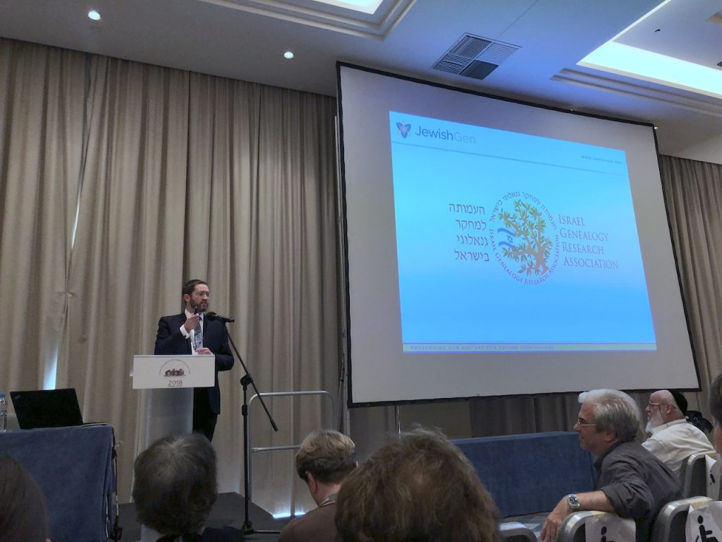 Avraham Groll, Director of JewishGen.org, announcing new partnership with IGRA in Warsaw